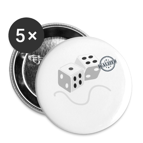 Dice - Symbols of Happiness - Buttons large 2.2''/56 mm(5-pack)