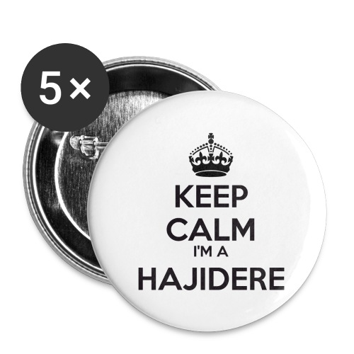 Hajidere keep calm - Buttons large 2.2''/56 mm(5-pack)