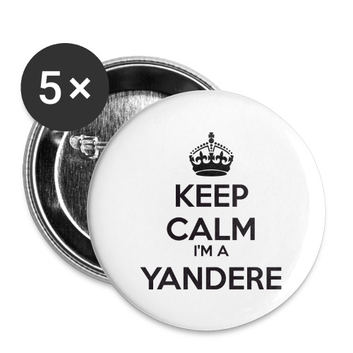 Yandere keep calm - Buttons large 2.2''/56 mm(5-pack)