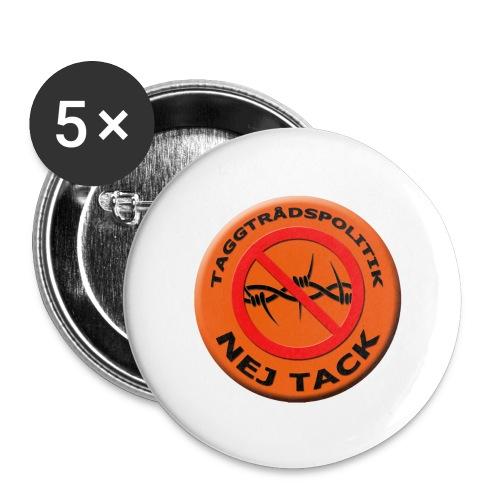 Taggtrådspolitik Ny - Stora knappar 56 mm (5-pack)