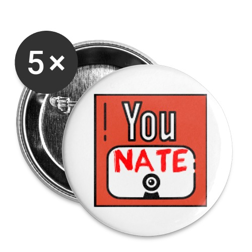 Nate's Youtube Logo - Buttons groot 56 mm (5-pack)