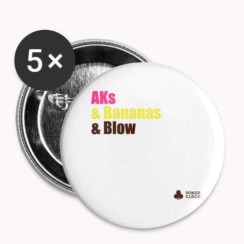 AKs & Bananas & Blow - Buttons groß 56 mm (5er Pack)