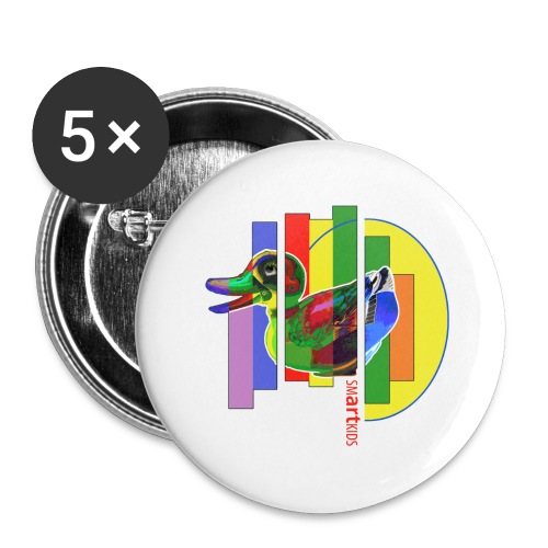 smARTkids - Gutsy Duck - Buttons large 2.2''/56 mm(5-pack)