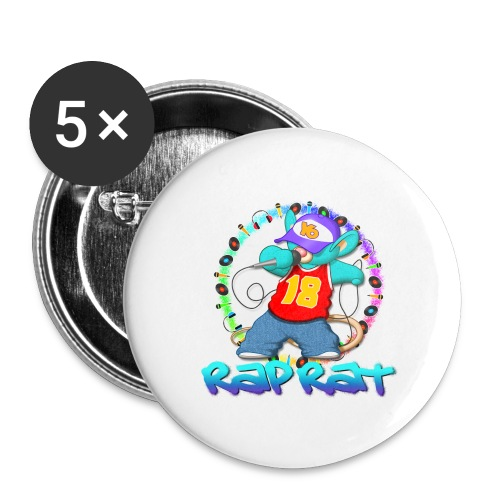 Rap Rat - Confezione da 5 spille grandi (56 mm)