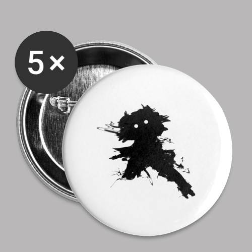 Charlie The Scratch Kid - Buttons large 2.2''/56 mm (5-pack)
