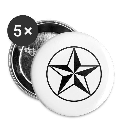 Star - Confezione da 5 spille grandi (56 mm)