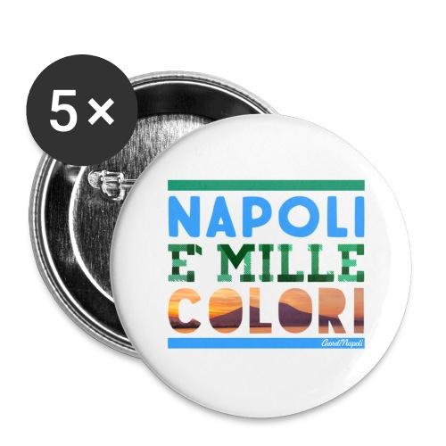 Napoli è mille colori - Confezione da 5 spille grandi (56 mm)