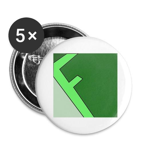 Frager - Stora knappar 56 mm (5-pack)