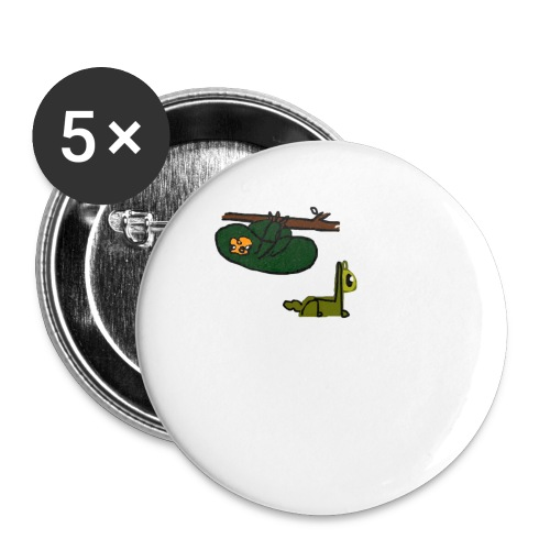 Sloth + Llama - Buttons large 2.2''/56 mm (5-pack)