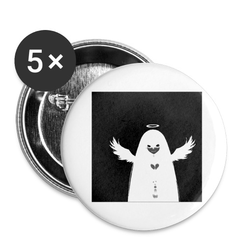 Angel Ghost - Lot de 5 grands badges (56 mm)