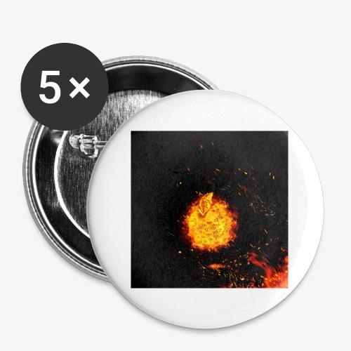FIRE BEAST - Buttons groot 56 mm (5-pack)