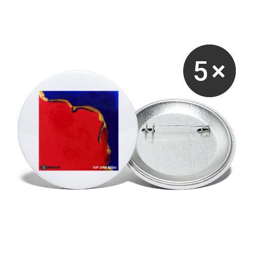 TIAN GREEN Mosaik DE023 - Rot und Blau - Buttons groß 56 mm (5er Pack)