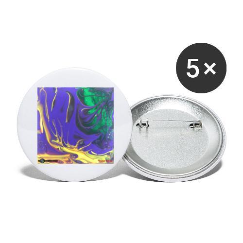 TIAN GREEN Mosaik DK010 - Free flow - Buttons groß 56 mm (5er Pack)