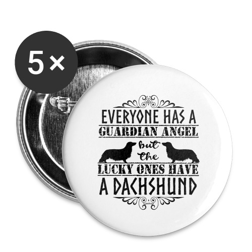 Dachshund LH Angel3 - Buttons large 2.2''/56 mm(5-pack)