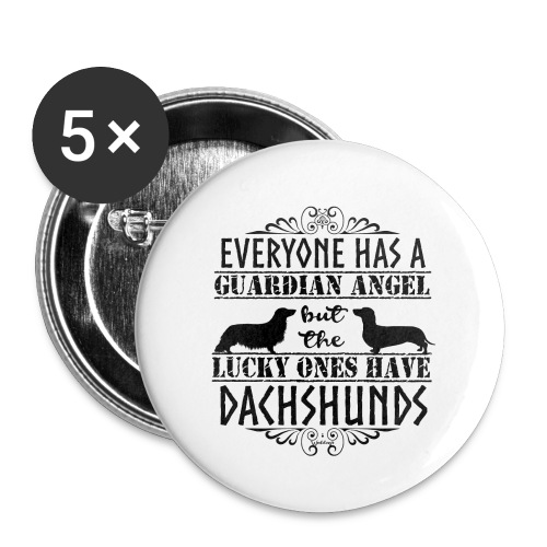 Dachshund SH LH Angels - Buttons large 2.2''/56 mm(5-pack)