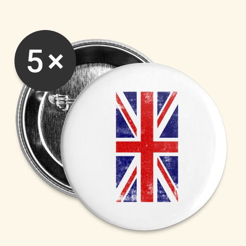England Flagge - Buttons groß 56 mm (5er Pack)