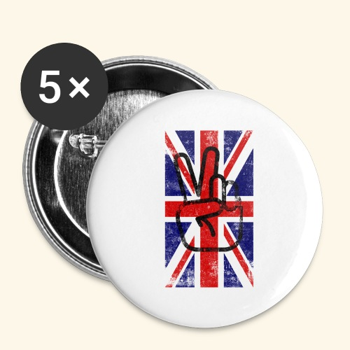 England peace - Buttons groß 56 mm (5er Pack)