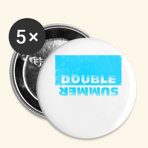 Double Summer - Buttons groß 56 mm (5er Pack)