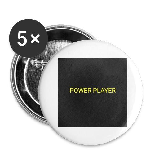 Power player - Confezione da 5 spille grandi (56 mm)