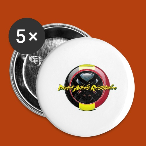Logo Projet Aliens Résistance - Lot de 5 grands badges (56 mm)