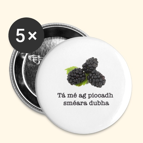 Picking blackberries - Buttons large 2.2''/56 mm(5-pack)