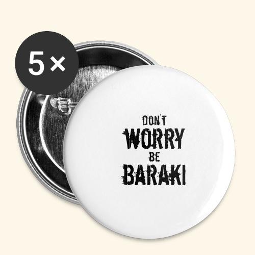 Be Baraki (Noir) - Lot de 5 grands badges (56 mm)