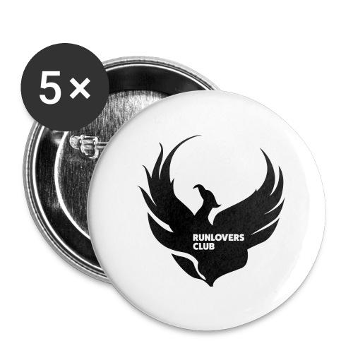 Runlovers Club v2 - Confezione da 5 spille grandi (56 mm)