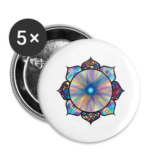 Buddha Flower - Buttons large 2.2''/56 mm(5-pack)
