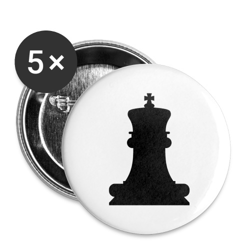 The Black King - Buttons large 2.2''/56 mm(5-pack)