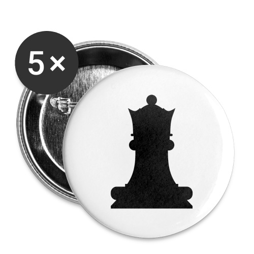 The Black Queen - Buttons large 2.2''/56 mm(5-pack)
