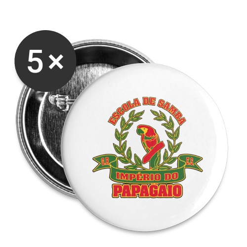 Papagaio logo - Rintamerkit isot 56 mm (5kpl pakkauksessa)