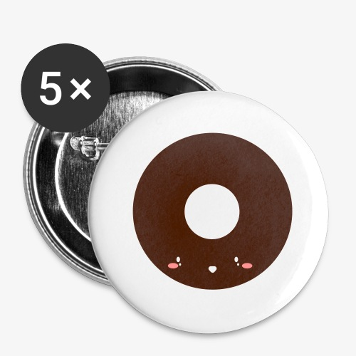 Happy Doughnut - Buttons large 2.2''/56 mm(5-pack)