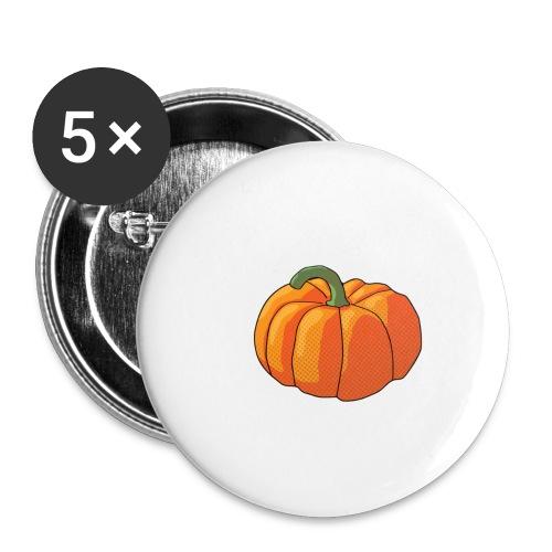 Pumpkin - Confezione da 5 spille grandi (56 mm)