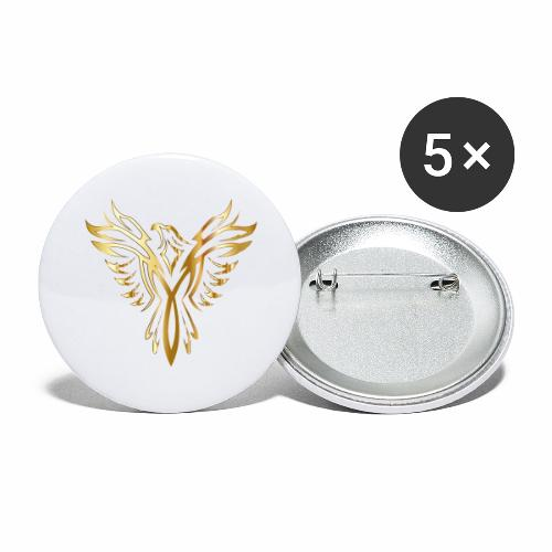 Złoty fenix - Przypinka duża 56 mm (pakiet 5 szt.)