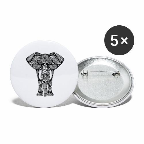 Ażurowy słoń - Przypinka duża 56 mm (pakiet 5 szt.)