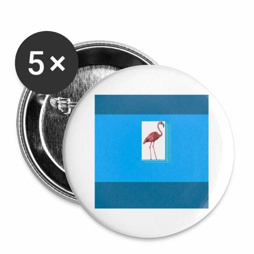 Flamingoscotteri - Confezione da 5 spille grandi (56 mm)