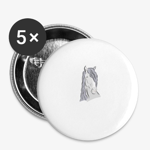 Beispiel Druck - Buttons groß 56 mm (5er Pack)