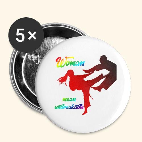 woman mean unbreakable - Confezione da 5 spille grandi (56 mm)