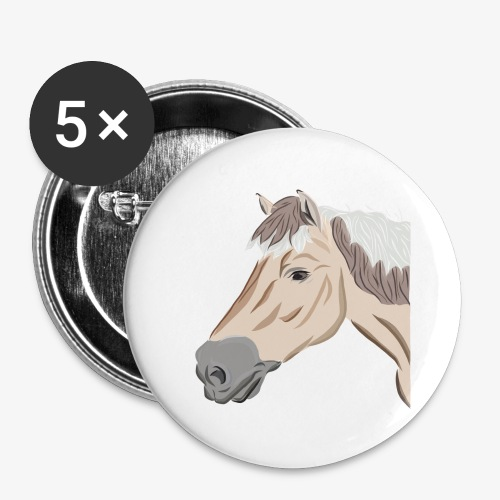 Fjord Pony - Buttons groß 56 mm (5er Pack)