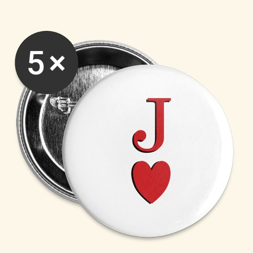 Valet de trèfle - Jack of Heart - Reveal - Lot de 5 grands badges (56 mm)