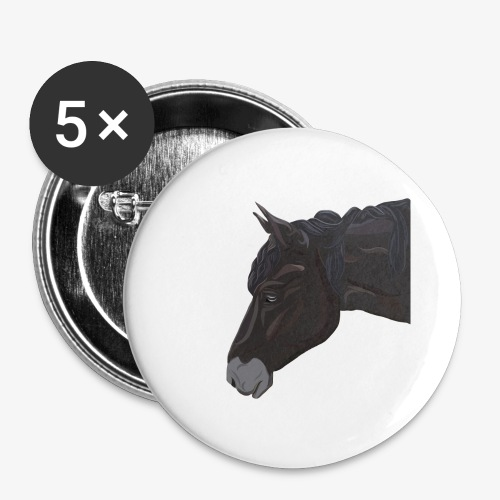 Welsh Pony - Buttons groß 56 mm (5er Pack)
