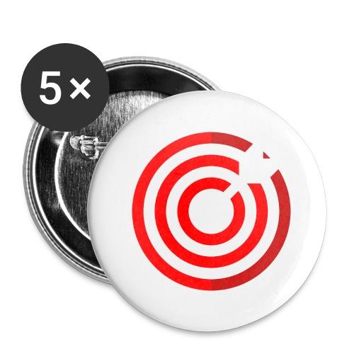 dartboard - Buttons groß 56 mm (5er Pack)