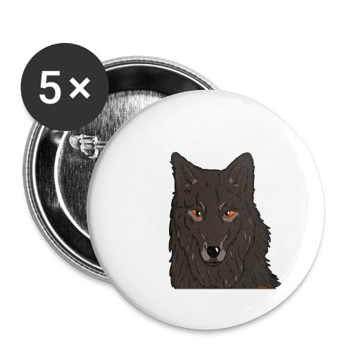 HikingMantis Wolf png - Buttons/Badges stor, 56 mm (5-pack)