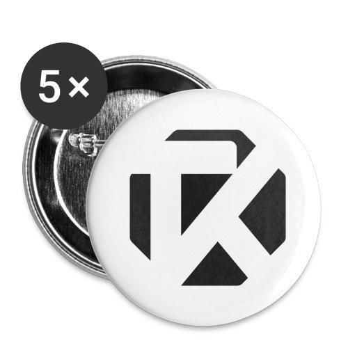 Logo TK Noir - Lot de 5 grands badges (56 mm)