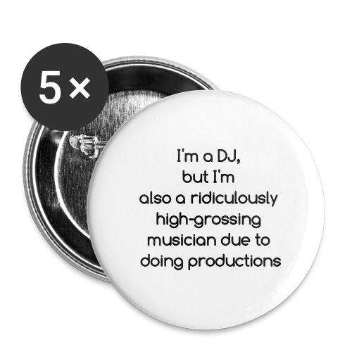 IM A DJ! - Buttons groot 56 mm (5-pack)