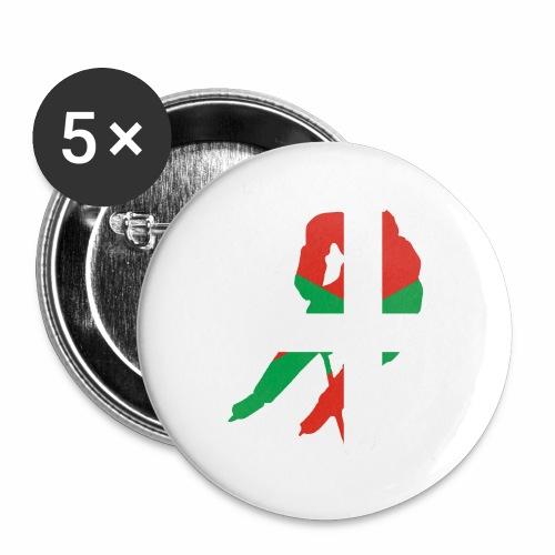 hockeyeur et basque - Lot de 5 grands badges (56 mm)
