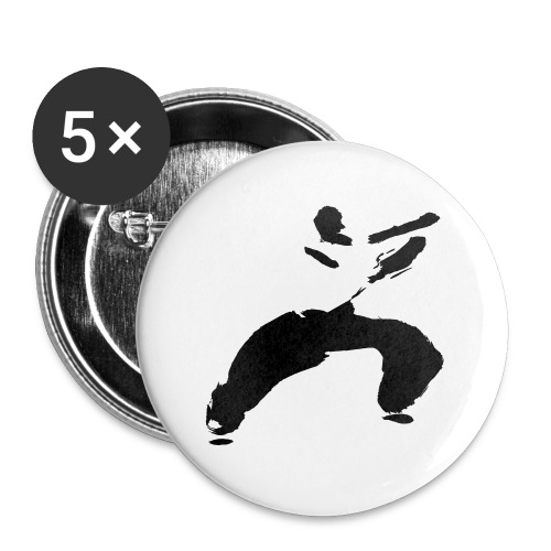 kung fu - Buttons large 2.2''/56 mm(5-pack)