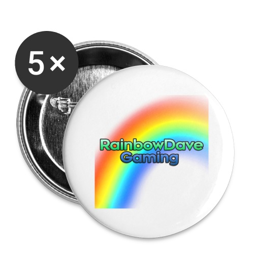 RainbowDave Gaming Logo - Buttons large 2.2''/56 mm(5-pack)