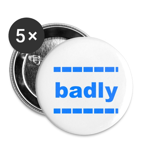 badly shop - Buttons large 2.2''/56 mm(5-pack)