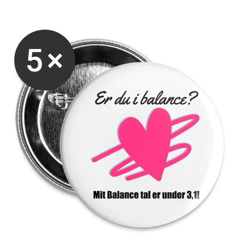 I Balance Design - Buttons/Badges stor, 56 mm (5-pack)